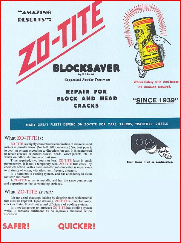Zo-Tite - 'Blocksaver' Powder Repair for Block and Head Cracks
