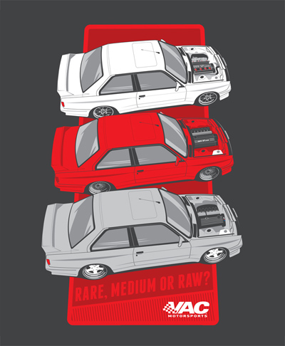 "VAC - E30 M3 ""Rare, medium or raw?"" Swap T-Shirt THUMBNAIL"