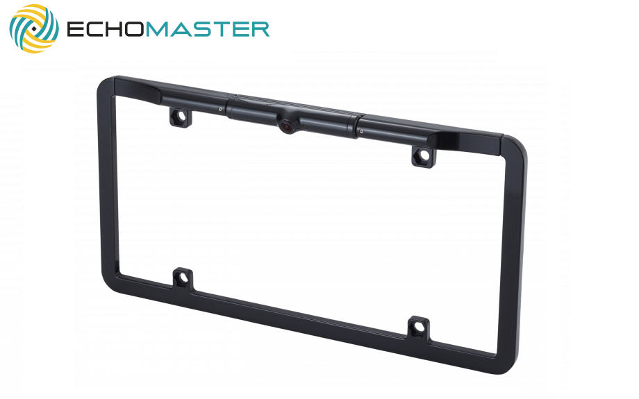 "1/3"" Slim Full Frame License Plate Backup Camera- Black (Front/Reverse) THUMBNAIL"