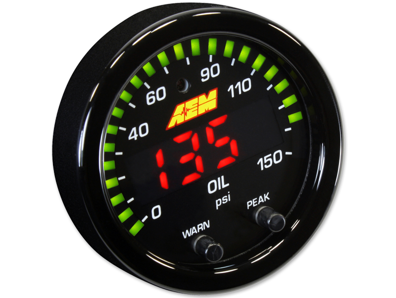 AEM - X Series 150 psi / 10 bar Oil Pressure Gauge THUMBNAIL
