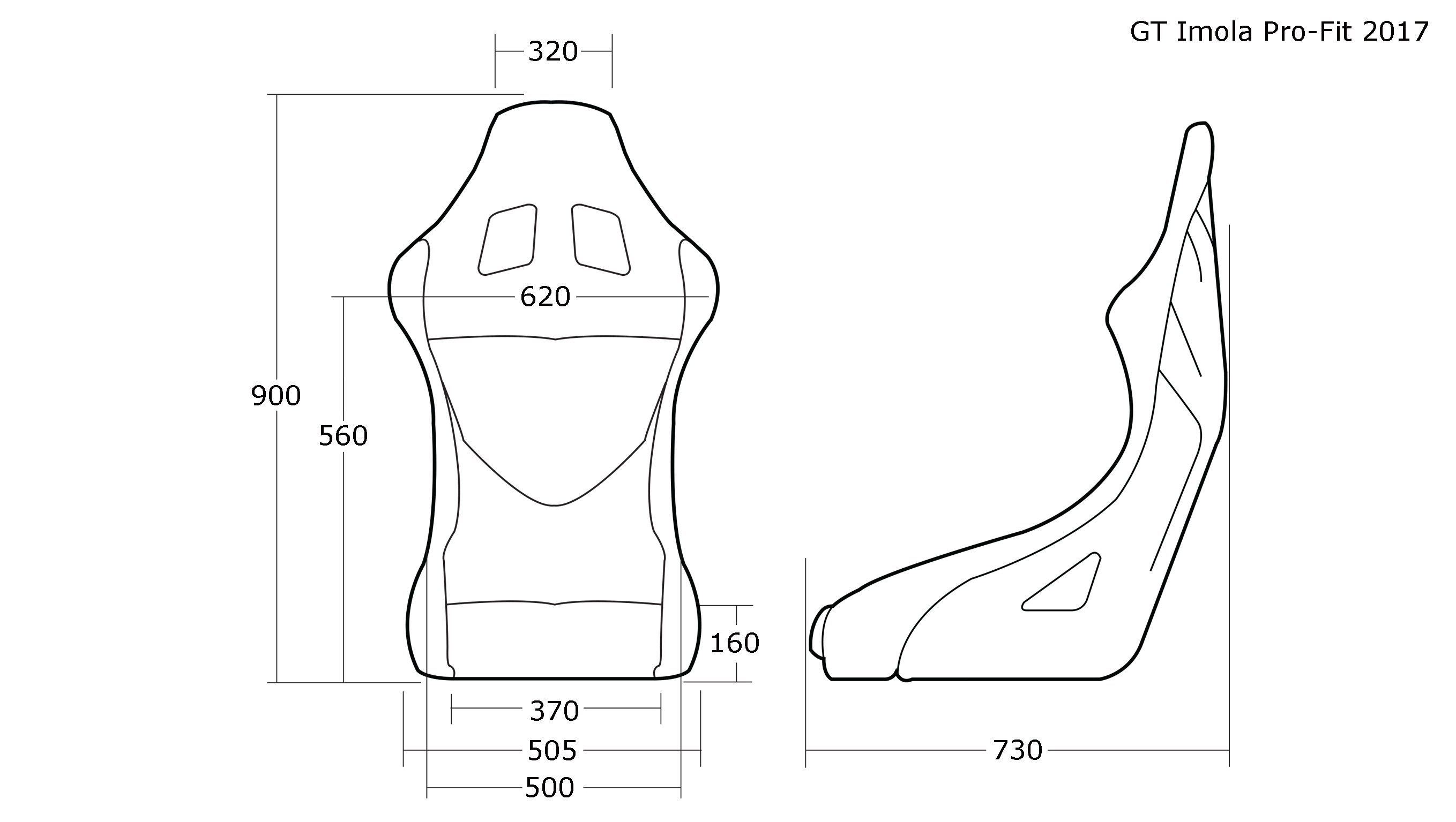 Cobra - Imola Pro-Fit Racing Seat SWATCH
