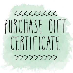 E Gift Certificate- Online purchases only MAIN
