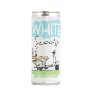 White Scooter Can THUMBNAIL