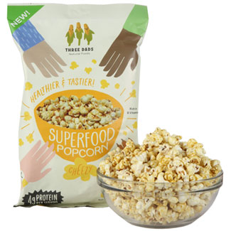 Three Dads Cheezy Superfood Popcorn - Large bag MAIN