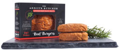 Vegan Artisan Beef Burgers by The Abbot's Butcher