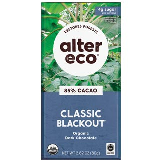 Alter Eco Organic 85% Classic Blackout Chocolate Bar MAIN