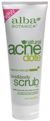 AcneDote Maximum Strength Face & Body Scrub by Alba Botanica