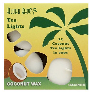 Aloha Bay Coconut Wax Tea Lights MAIN