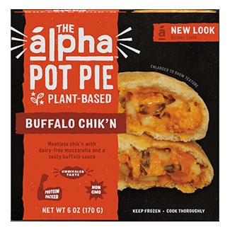 Alpha Foods Buffalo Chick'n Handheld Pot Pie LARGE