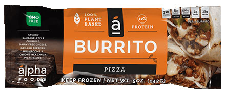 Alpha Foods Vegan Pizza Burrito