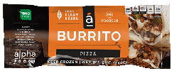 Alpha Foods Vegan Pizza Burrito THUMBNAIL