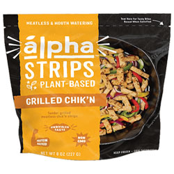 Alpha Strips Plant-Based Grilled Chik'n Strips THUMBNAIL