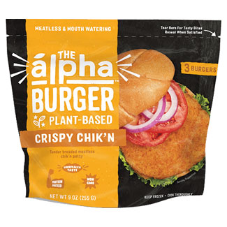 The Alpha Burger Plant-Based Crispy Chik'n Patties by Alpha Foods MAIN