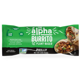 Alpha Foods Philly Sandwich Burrito MAIN
