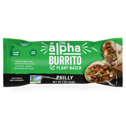 Alpha Foods Philly Sandwich Burrito THUMBNAIL