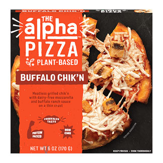 Alpha Pizza Buffalo Chick'n Personal Pizza by Alpha Foods LARGE