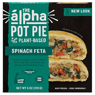 Alpha Foods Spinach Feta Handheld Pot Pie LARGE