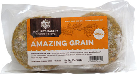 Amazing Grain Burgers by Nature's Bakery Cooperative