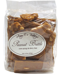 Vegan Peanut Brittle by Amy E's Bakery