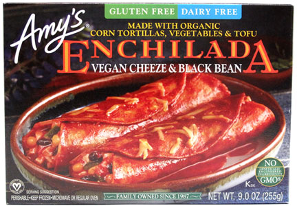 Amy's Vegan Cheeze & Black Bean Enchiladas