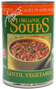 Amy's Organic Lentil Vegetable Soup - Light in Sodium