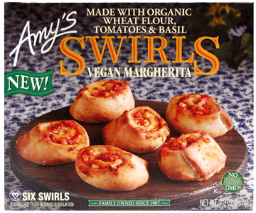 Amy's Vegan Margherita Pizza Swirls