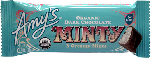Amy's Organic Minty Candy Bar LARGE