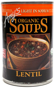 Amy's Organic Lentil Soup - Light in Sodium