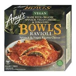 Amy's Spinach & Ricotta Cheeze Ravioli Bowl THUMBNAIL