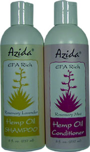 Azida Hemp Oil Shampoo or Conditioner