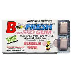 B Fresh Vegan Chewing Gum Pack - Bubble Gum THUMBNAIL