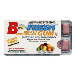 B Fresh Vegan Chewing Gum Pack - Mixed Fruit THUMBNAIL