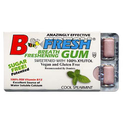B Fresh Vegan Chewing Gum Pack - Spearmint THUMBNAIL