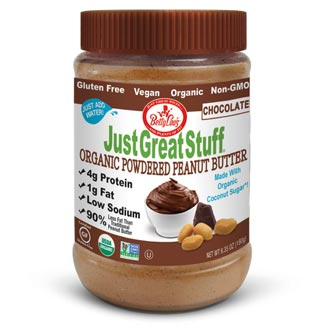 Just Great Stuff Organic Powdered Peanut Butter - Chocolate MAIN