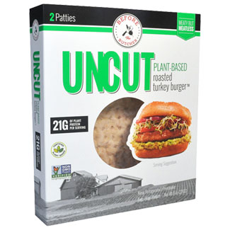 Uncut Plant-Based Roasted Turkey Burger by Before the Butcher MAIN