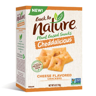 Cheddarlicious Cheese Flavored Crackers by Back To Nature MAIN