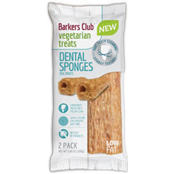 Barker's Club Dental Sponges Vegan Dog Chew Treats THUMBNAIL