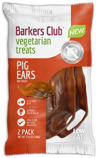Barker's Club Vegan Pig's Ear Dog Chew Treats LARGE