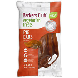 Barker's Club Vegan Pig's Ear Dog Chew Treats THUMBNAIL