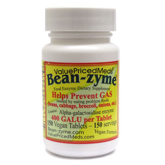 Bean-Zyme Anti-Gas Food Enzyme Supplement MAIN