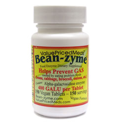 Bean-Zyme Anti-Gas Food Enzyme Supplement THUMBNAIL