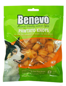 Pawtato Knots Dog Treats by Benevo
