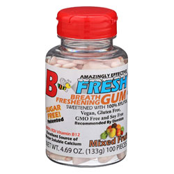 B Fresh Vegan Chewing Gum Bottle - Mixed Fruit THUMBNAIL