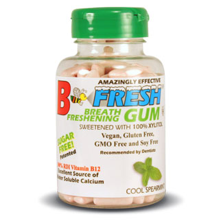 B Fresh Vegan Chewing Gum Bottle - Spearmint MAIN