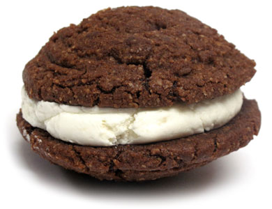 Cocoa Pie Cookie Cream Sandwiches by Bit Baking Co.