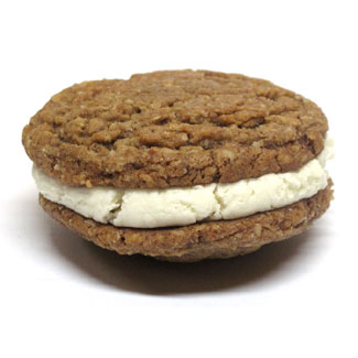 Pumpkin Pie Cookie Cream Sandwiches by Bit Baking Co. MAIN