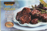 Vegan Black Pepper Steaks by Vegetarian Plus
