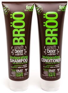 BROO Invigorating Craft Beer Shampoo or Conditioner