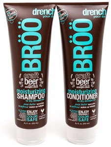 BROO Moisturizing Craft Beer Shampoo or Conditioner