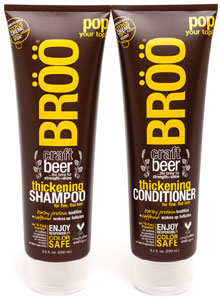 BROO Thickening Craft Beer Shampoo or Conditioner